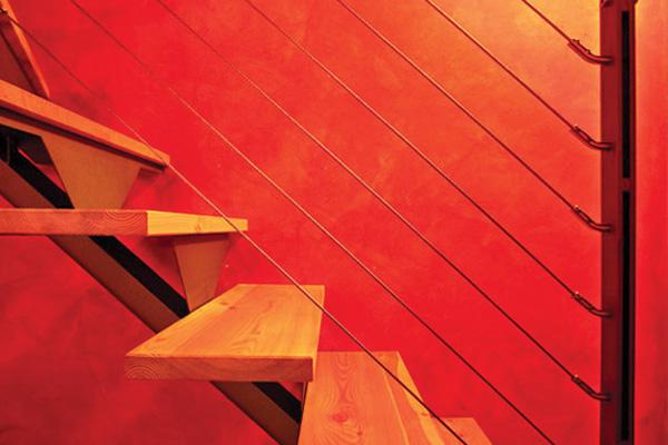 restauro scale in legno ristorante roero