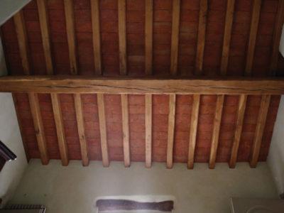 locanda sanpietro travi legno soffitto