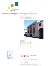 certificazione casaclima condominio girasole