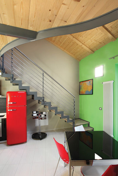 ristrutturazione scala pareti casaclima